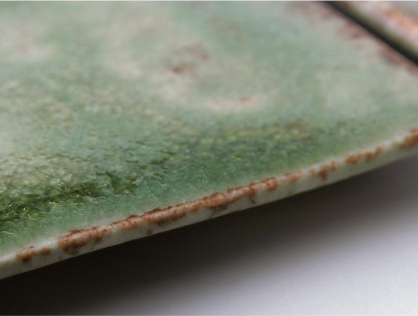 緑伊良保 - 板皿