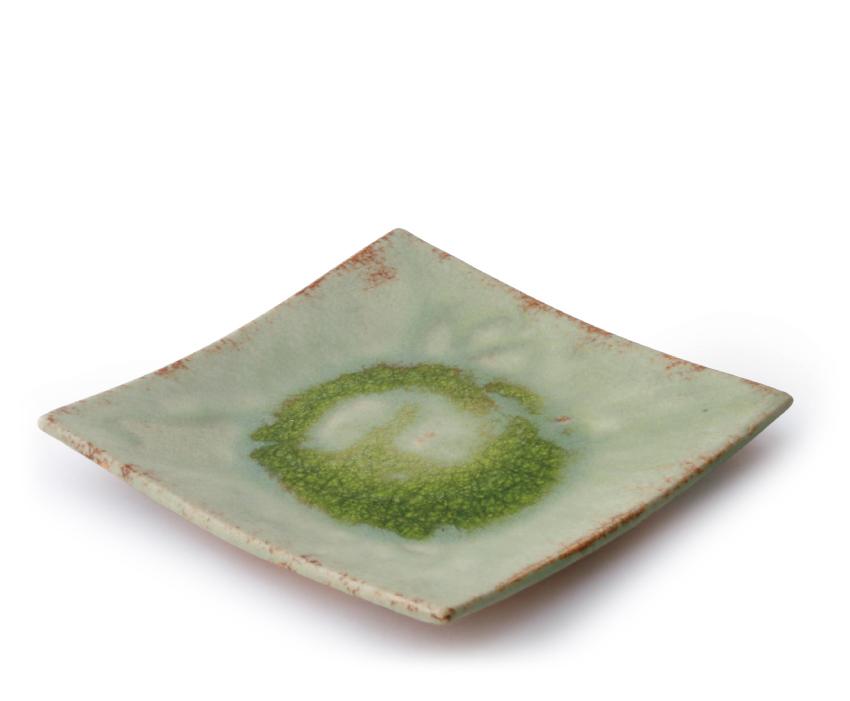 緑伊良保 正角皿 20.0cm × 20.0cm