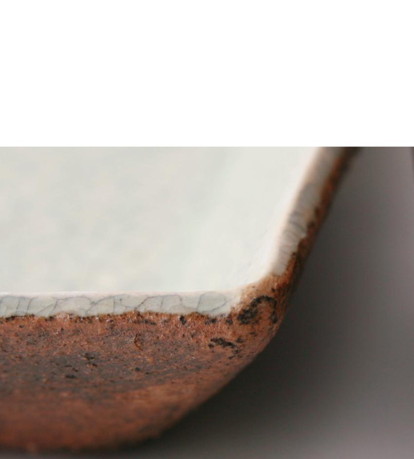 泥ビードロ- 長角皿