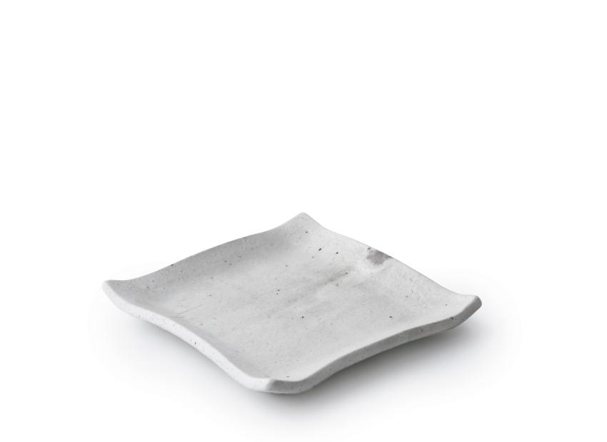 白萩 正角皿 15.0cm