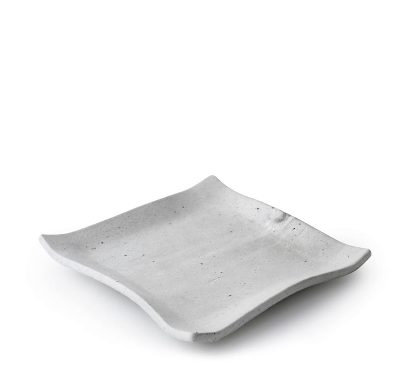 白萩 正角皿 19.5cm × 19.5cm