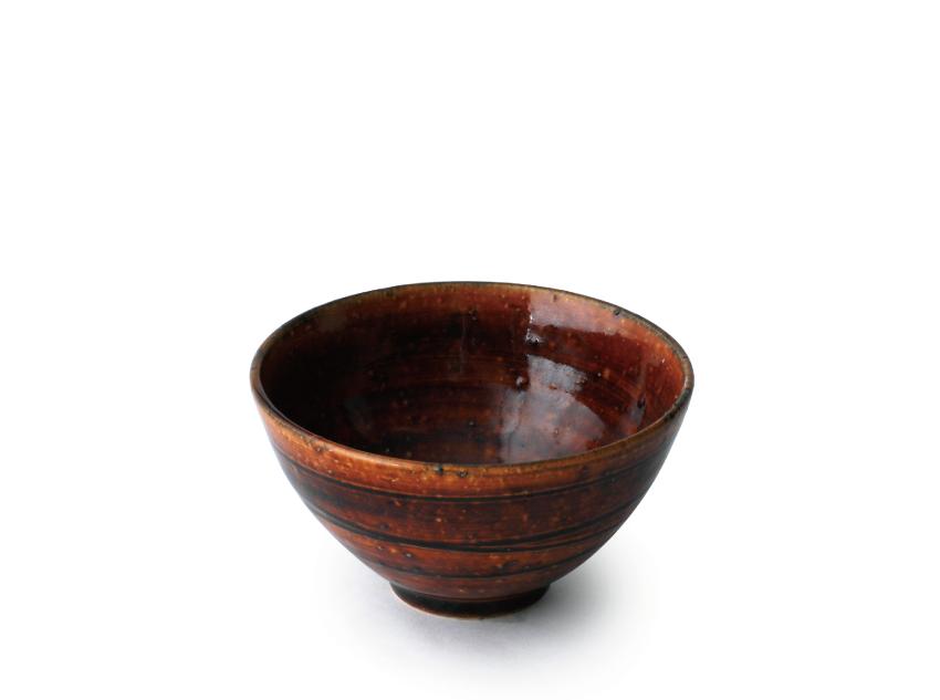 飴釉 飯碗 12.0cm × h7.0cm