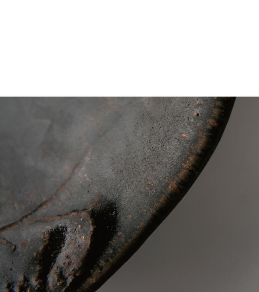 黒釉 - 丸皿