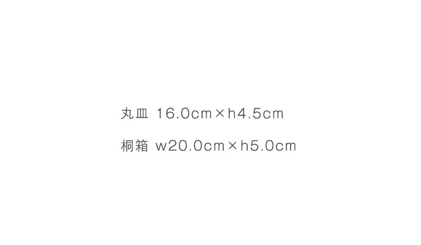 呉須絵 - 丸皿 16.0cm×h4.5cm - 桐箱 20.0cm×h5.0cm