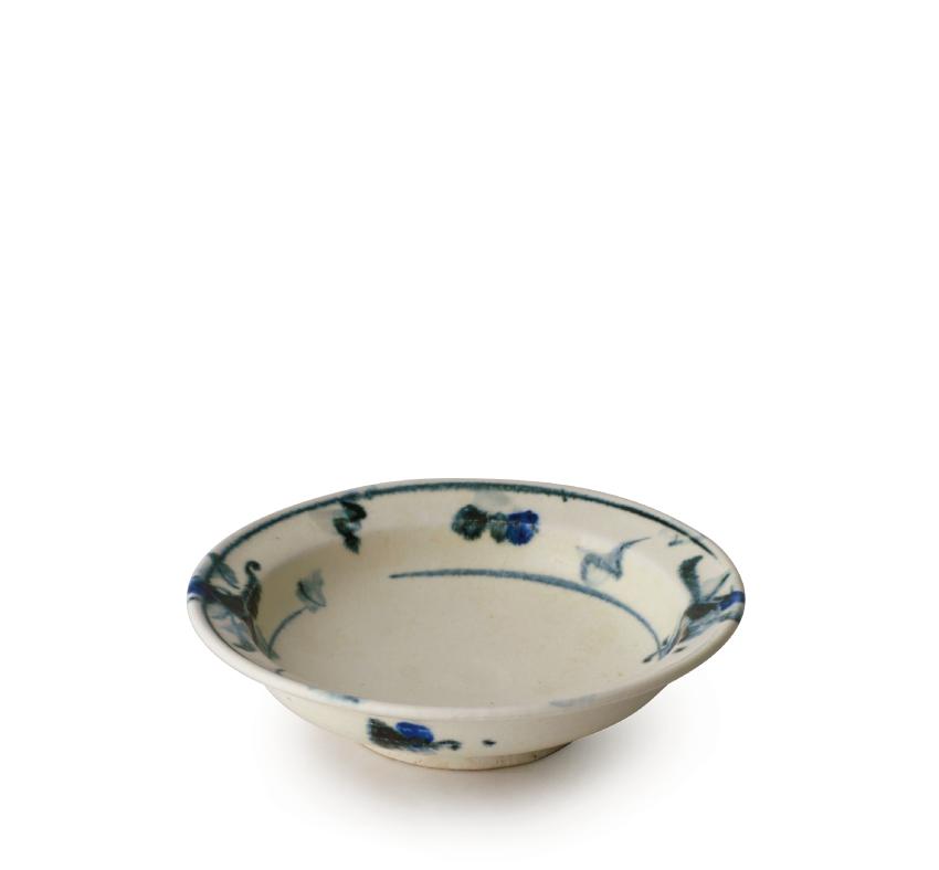 呉須絵 丸皿 16.5cm