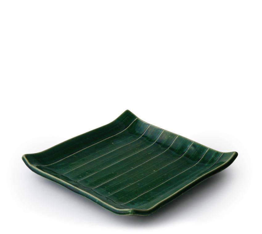 織部 正角皿 19.5cm × 19.5cm
