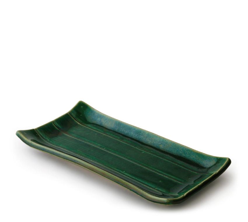 織部 長角皿 24.0cm × 12.0cm