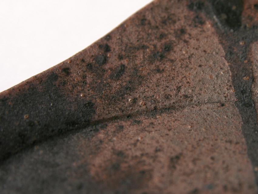 黒灰 - 正角皿