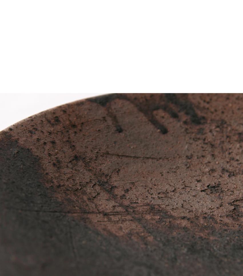 黒灰 - 丸皿