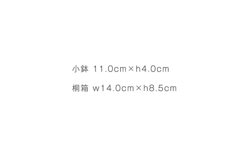 緋色 - 小鉢 11.0cm×h4.0cm - 桐箱 14.0cm×h8.5cm